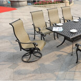 Wall Swivel Patio Dining Chair (Set of 2)