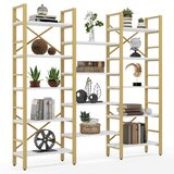 Naseem 69.68 H x 70.86 W Steel Etagere Bookcase by 17 Stories