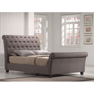 House of Hampton Lilou Upholstered Sleigh Bed