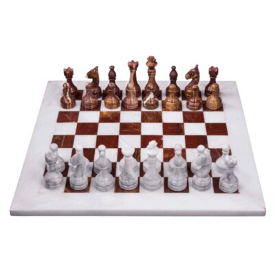 Chess Set Marble Products International Color: Red and White