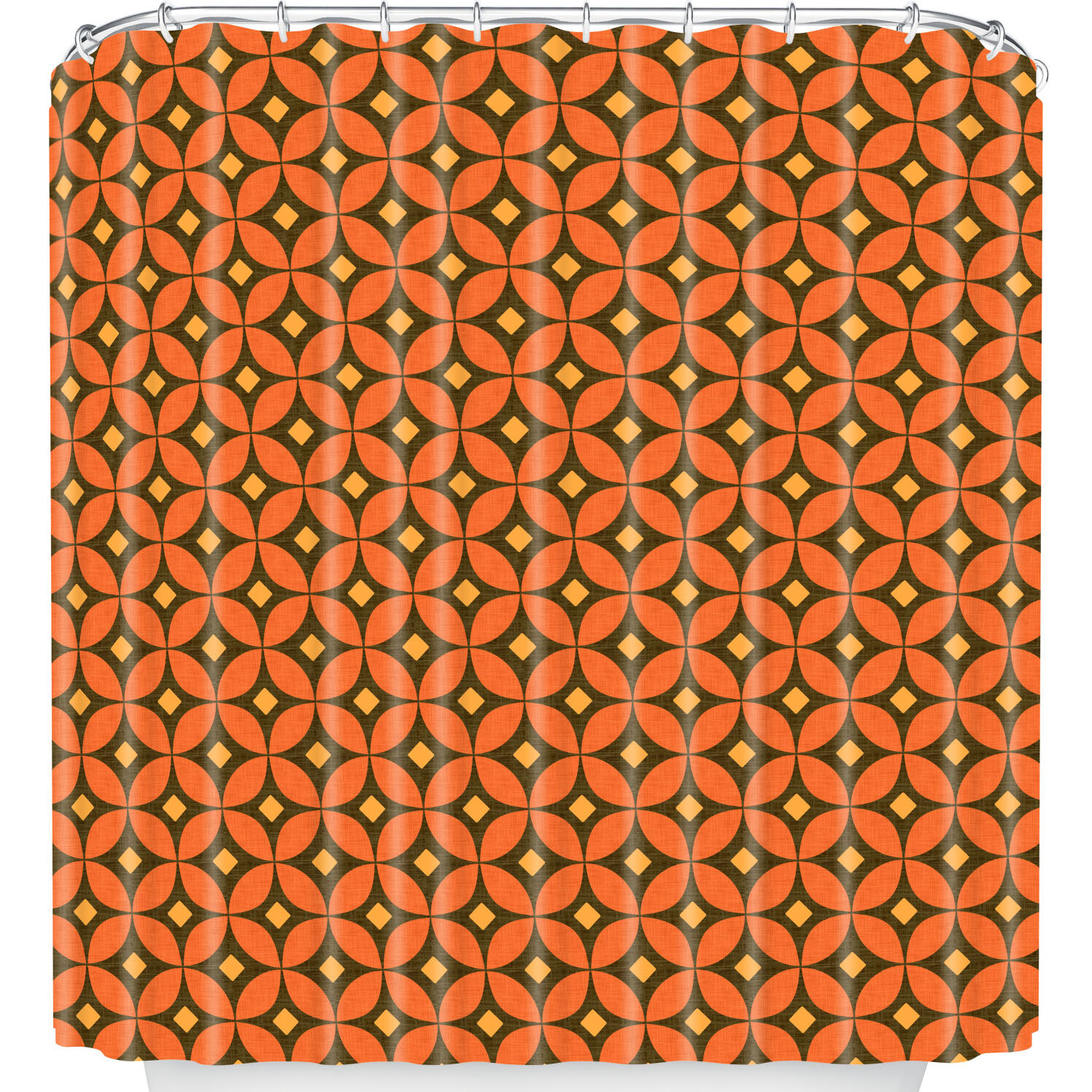 East Urban Home Pumpkin Spice Shower Curtain