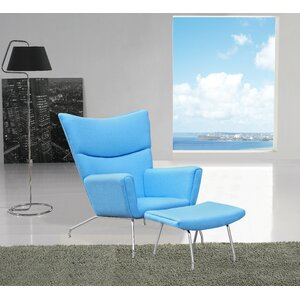 Wing Wing back Chair and Ottoman by Fine Mod Imports