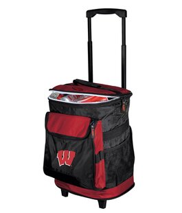 24 Can Collegiate Rolling Cooler - Wisconsin