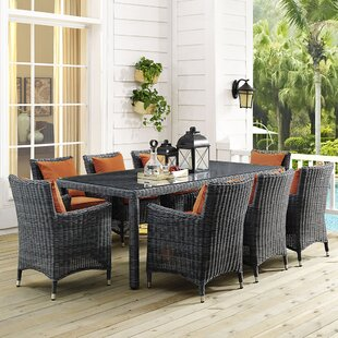 Brayden Studio Keiran 9 Piece Dining Set
