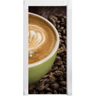 Coffee Cappuccino Afternoon Door Sticker By East Urban Home