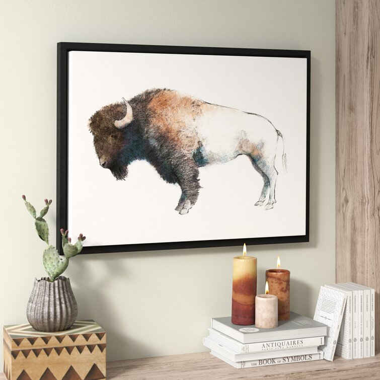 Colorful Bison by Avery Tillmon - Print on Canvas