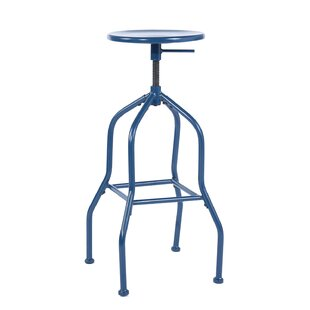 Falmouth Height Adjustable Swivel Bar Stool (Set Of 2) By Borough Wharf