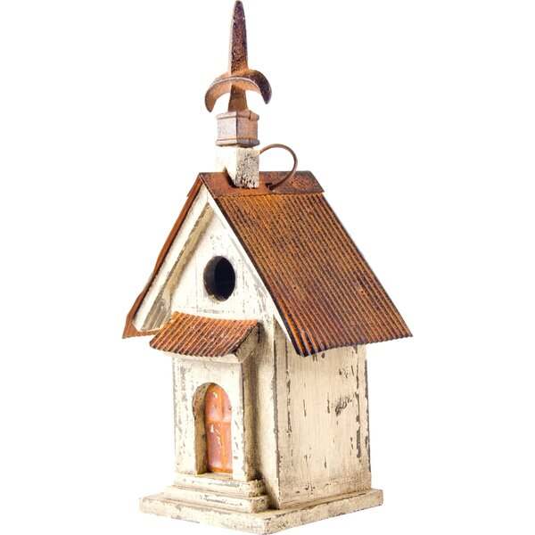 Church Hanging 13 in x 7 in x 5 in Birdhouse
