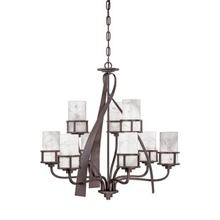 Loon Peak Colby 9-Light Shaded Chandelier