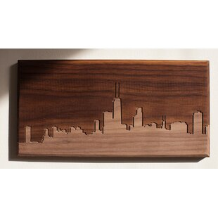 City Skylines Solid Walnut Chicago Skyline Routing Wall Art  sc 1 st  Wayfair : city skyline wall art - www.pureclipart.com