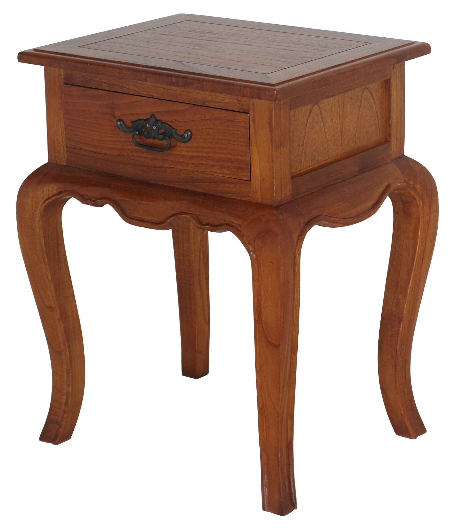 NES Furniture French Provincial Fine Handcrafted Solid Mahogany Wood Nightstand