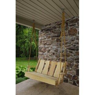Wandy Rustic Porch Swing by Loon Peak