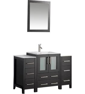 Karson Framed 48 Single Bathroom Vanity Set with Mirror by Wade Logan