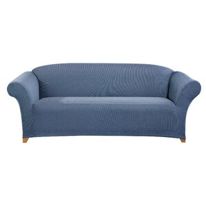 Simple Stretch Ticking Stripe Box Cushion Sofa Slipcover by Sure Fit