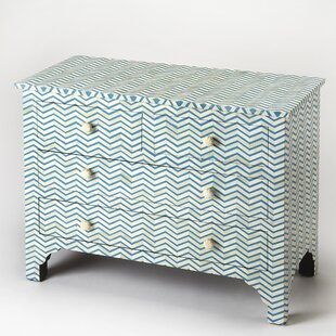 Thielsen 3 Drawers Accent Chest by Bungalow Rose