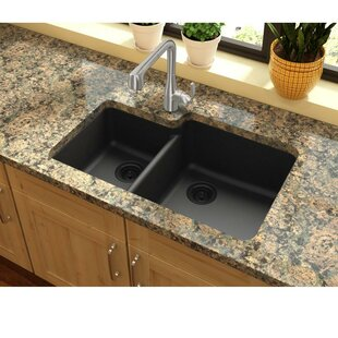 Quartz Classic 33 L x 21 W Double Basin Undermount Kitchen Sink