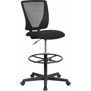 Best Review Drinnon Mid-Back Mesh Drafting Chair by Ebern Designs Reviews (2019) & Buyer's Guide