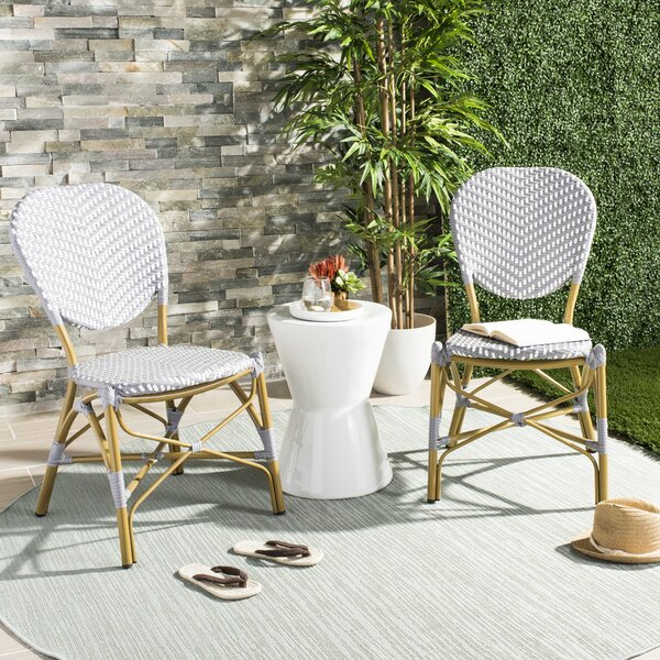 Lintgen French Stacking Patio Dining Chair