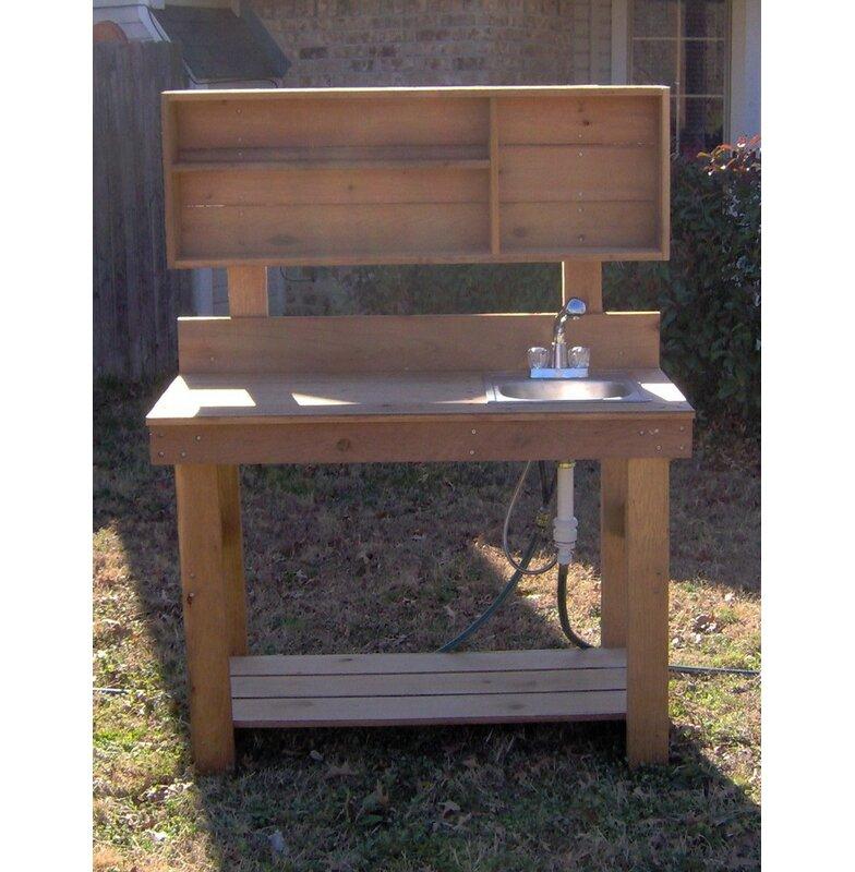 Freeport Park Evgeniya Cedar Potting Bench Wayfair