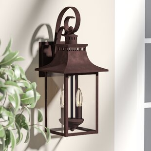 Best Deals Tewksbury 2-Light Wall Lantern By Alcott Hill