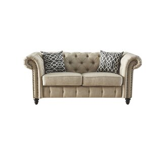 Lark Manor Irenee Loveseat with Pillow