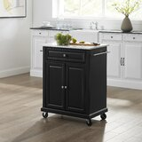 Carreen Kitchen Cart with Granite Top by Winston Porter
