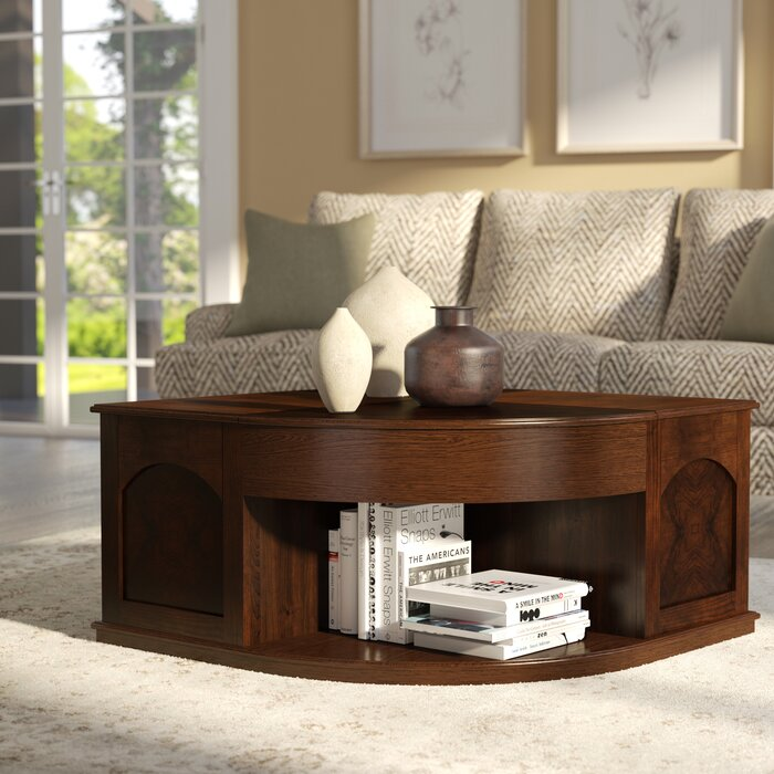 Weidler Double Lift Top Coffee Table With Tray