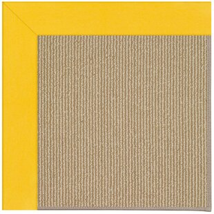 Best Price Lisle Machine Tufted Summertime Yellow/Brown Indoor/Outdoor Area Rug ByLongshore Tides