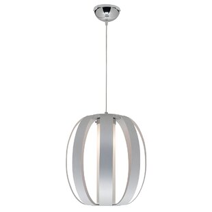 Rosewood 1-Light Globe Pendant by Orren Ellis