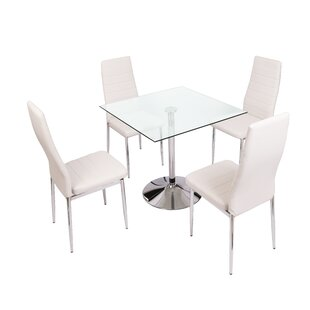 Diaundra Dining Set With 4 Chairs By Metro Lane