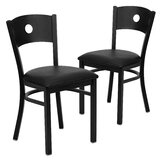Chafin Metal Upholstered Dining Chair (Set of 2) by Winston Porter