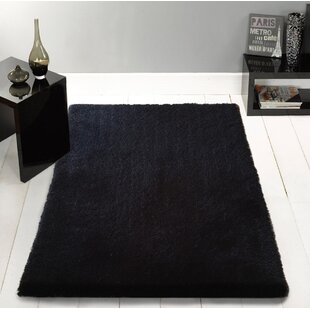 Compare prices Stenger Hand Tufted Black Area Rug ByLatitude Run
