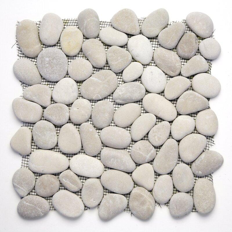 Decorative Random Sized Natural Stone Pebble Tile In Brookstone