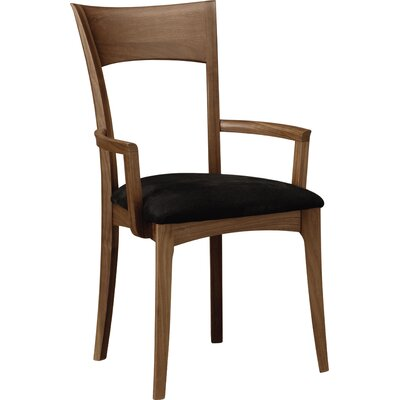 Copeland Furniture Ingrid Upholstered Dining Chair Frame Colour: Natural Walnut, Upholstery Colour: Fabric Birch