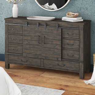 Oviedo Sliding Door 9 Drawer Combo Dresser by Gracie Oaks