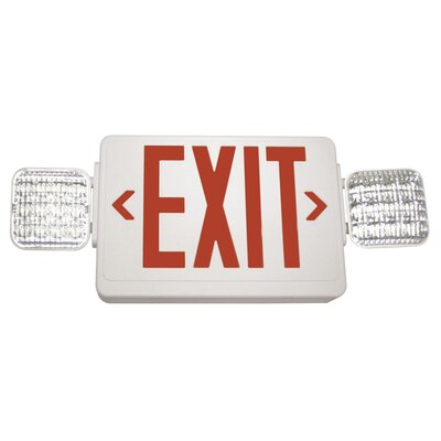 Exitronix Exit/LED Emergency Combo Light Barron Lighting Color: Red