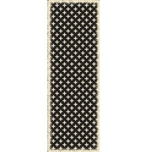 Buy Lundy Elegant Cross Design Black/White Indoor/Outdoor Area Rug By Union Rustic