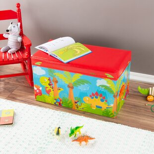 Champagne Collapsible Dinosaur Toy Box by Zoomie Kids