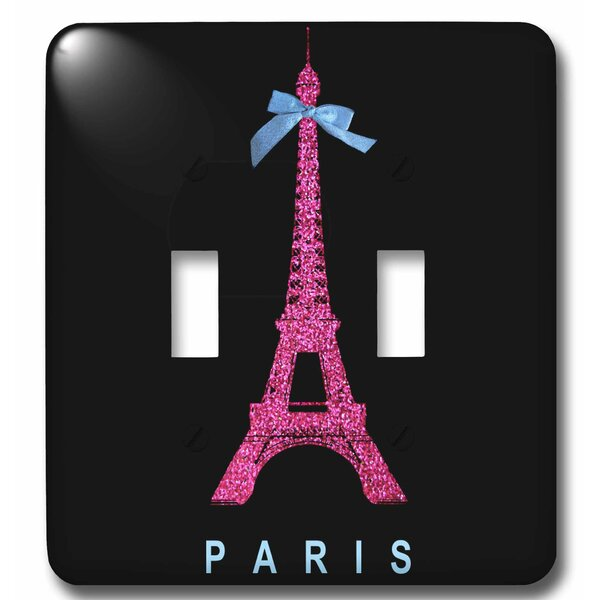 3drose Eiffel Tower From Paris With Girly Ribbon Bow Stylish Parisian France Souvenir 2 Gang Toggle Light Switch Wall Plate Wayfair