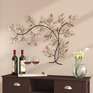 d coration murale en m tal th me fleurs et plantes. Black Bedroom Furniture Sets. Home Design Ideas