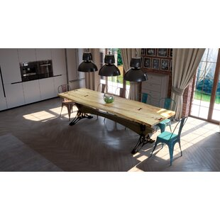 17 Stories Steve Solid Wood Dining Table