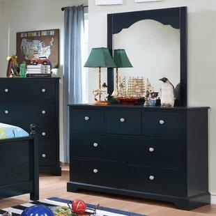 Evanoff 7 Drawer Dresser with Mirror