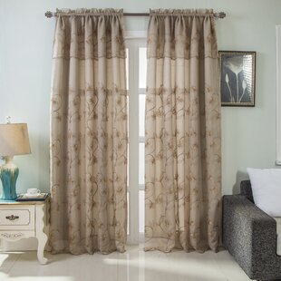 Curtains With Attached Valance Wayfair
