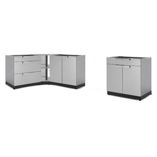 Kitchen 4 Piece Outdoor Bar Center Set by NewAge Products