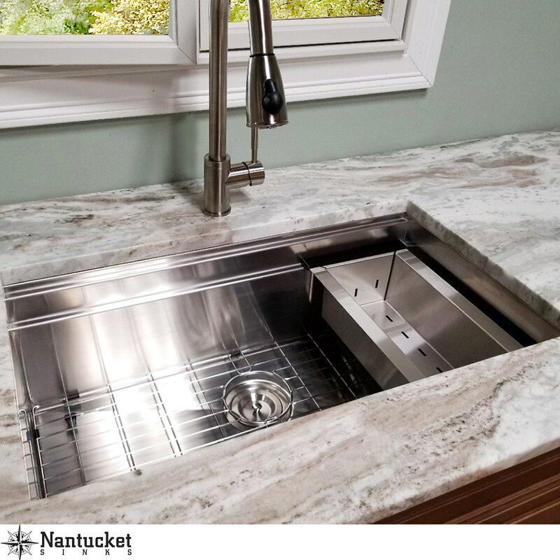 wayfair nantucket sinks pro series 30 l x 18 w undermount rh wayfair com pictures of undermount kitchen sinks and faucets