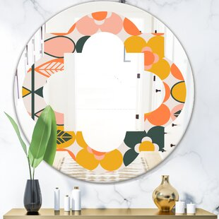 Botanical Design II Quatrefoil Eclectic Frameless Wall Mirror by East Urban Home