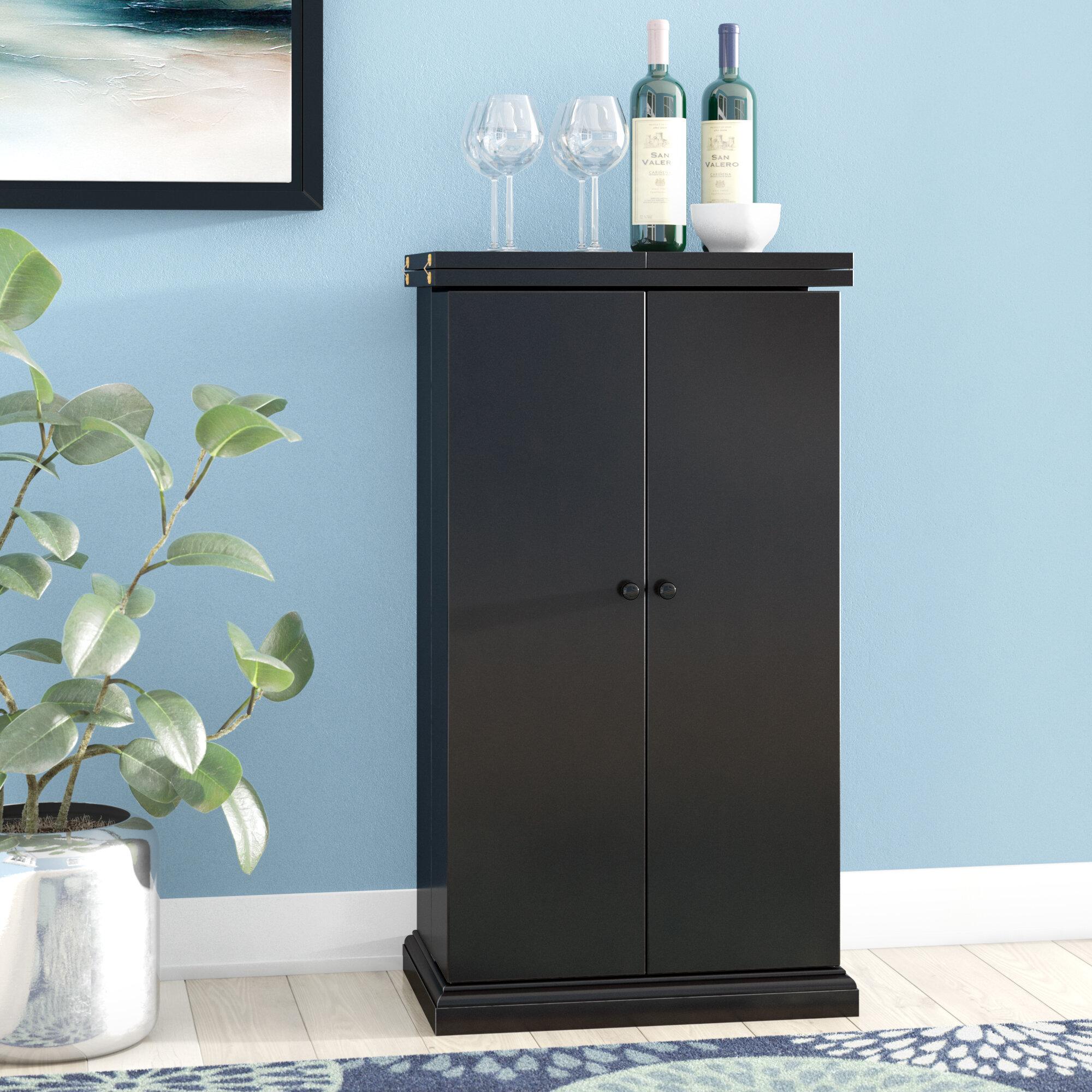 Latitude Run Haverhill Bar Cabinet with Wine Storage & Reviews | Wayfair