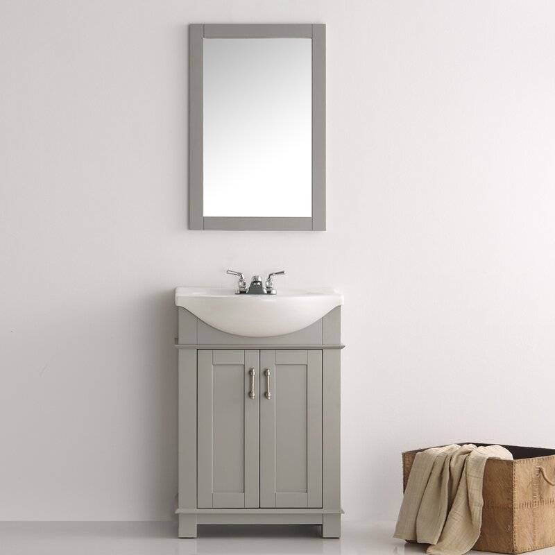 "Bathroom Vanities Set fresca cambria 24"" single bathroom vanity set & reviews 