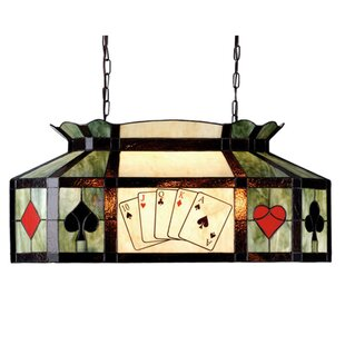 Tiffany Texas Hold Em Pool Table Pendant By Meyda Tiffany Outdoor Lighting