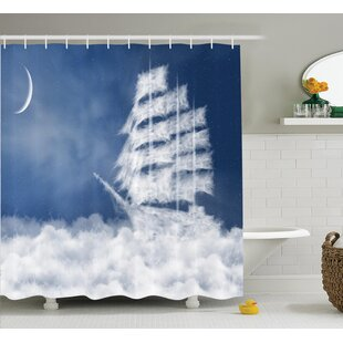 Nautical Decor Shower Curtain + Hooks